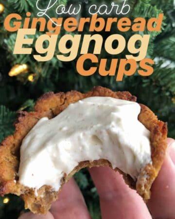 Gingerbread Eggnog Cups