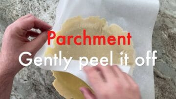 Parchment Gently Peel