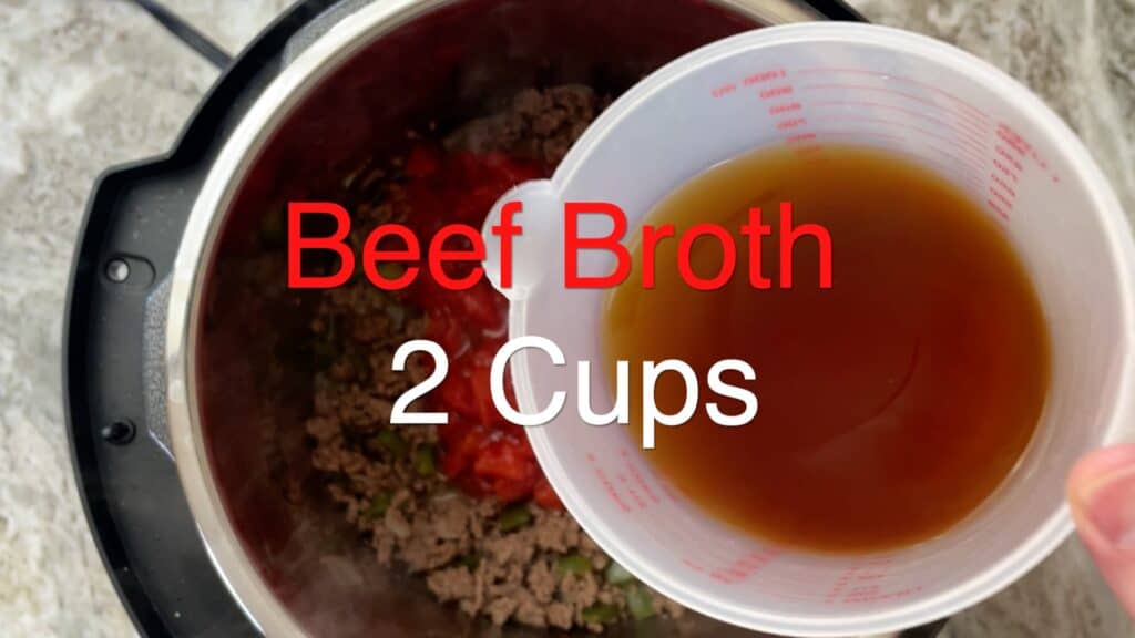 Instant Pot Chili beef broth