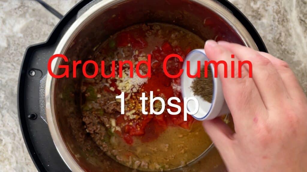 Instant Pot Chili cumin
