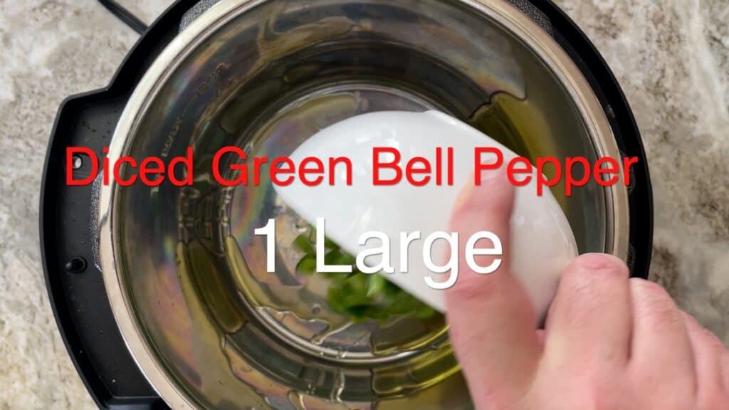 Instant Pot Chili green pepper