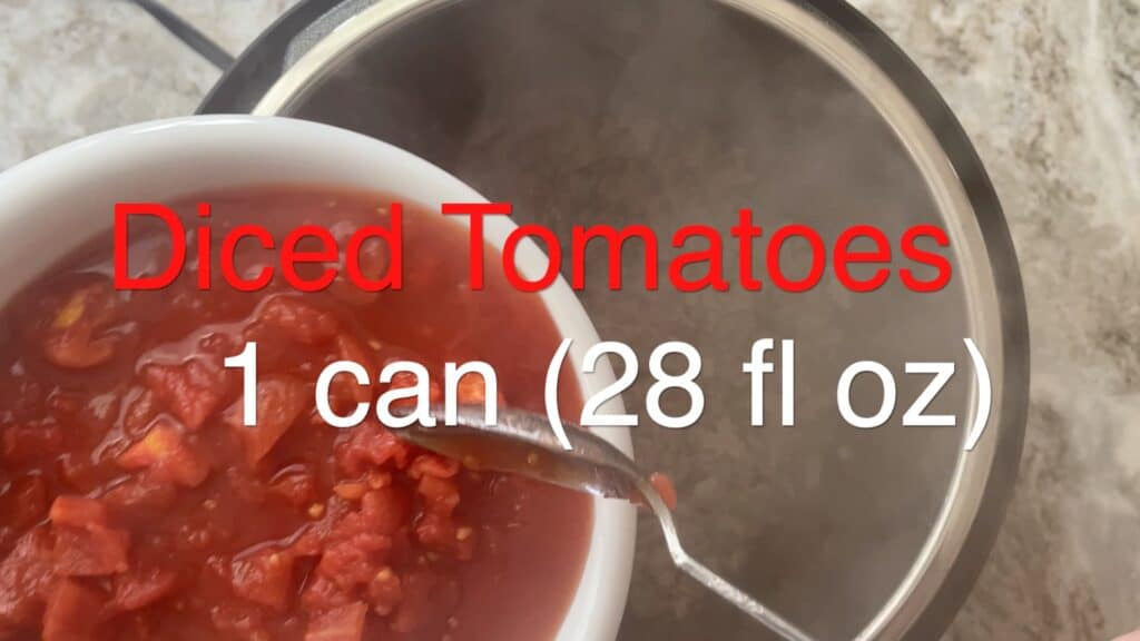 Instant Pot Chili diced tomatoes