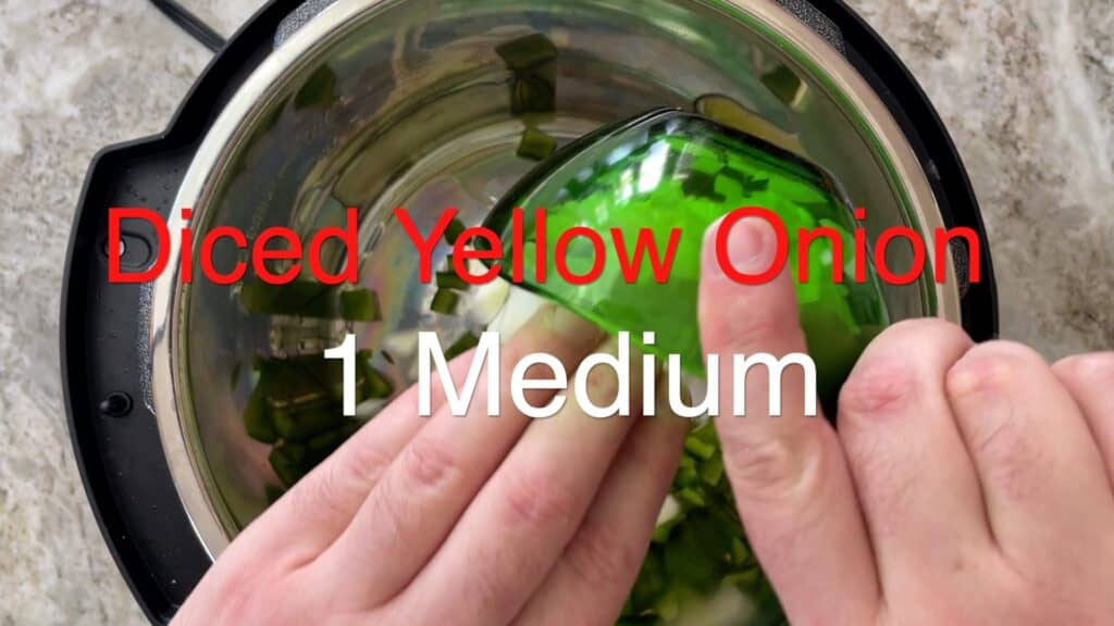 Instant Pot Chili diced onion
