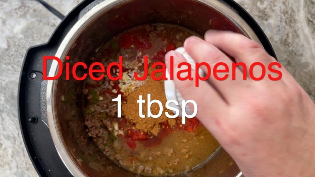 Instant Pot Chili diced jalapenos