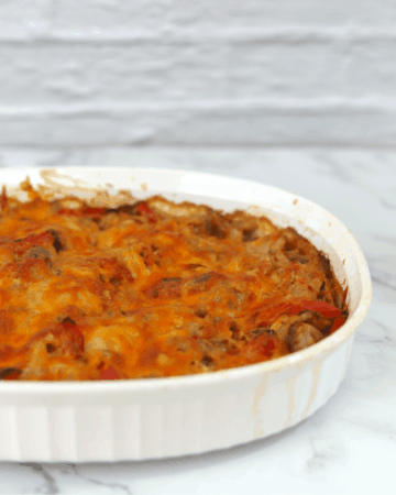 Cheesy Chicken Fajita Casserole