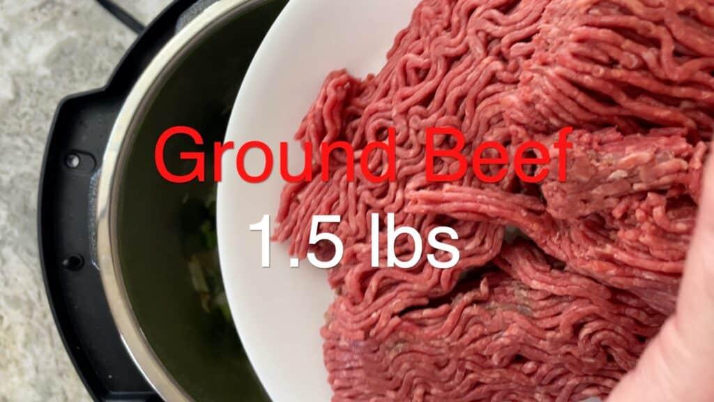 Instant Pot Chili adding ground beef