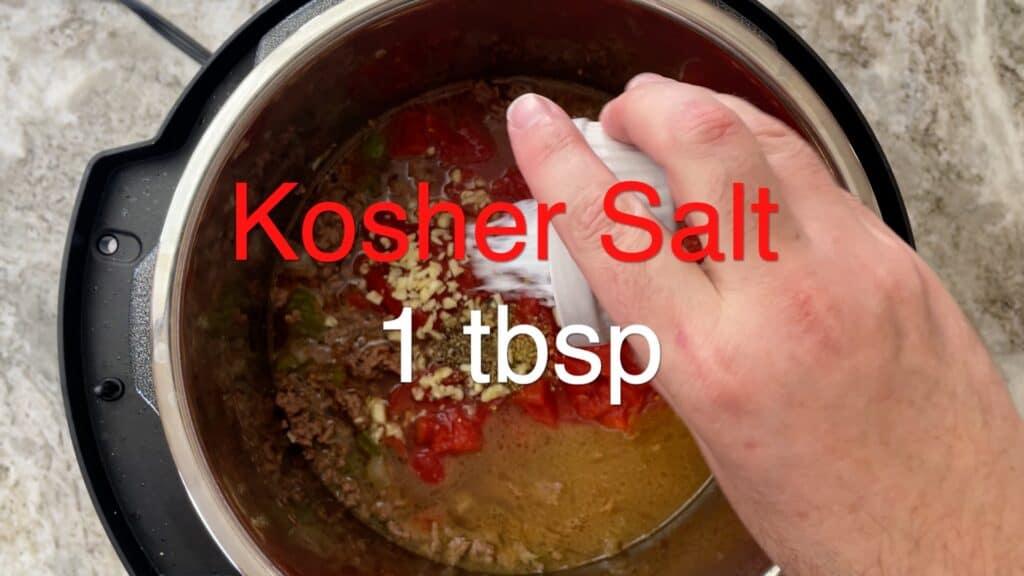 Instant Pot Chili salt