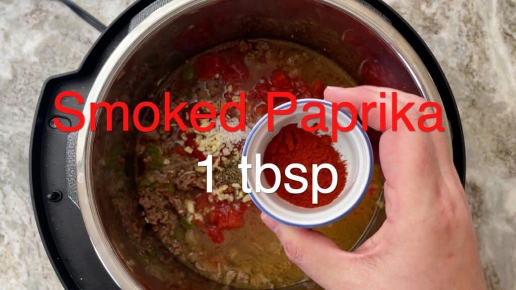 Instant Pot Chili add paprika