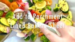 lined baking sheet