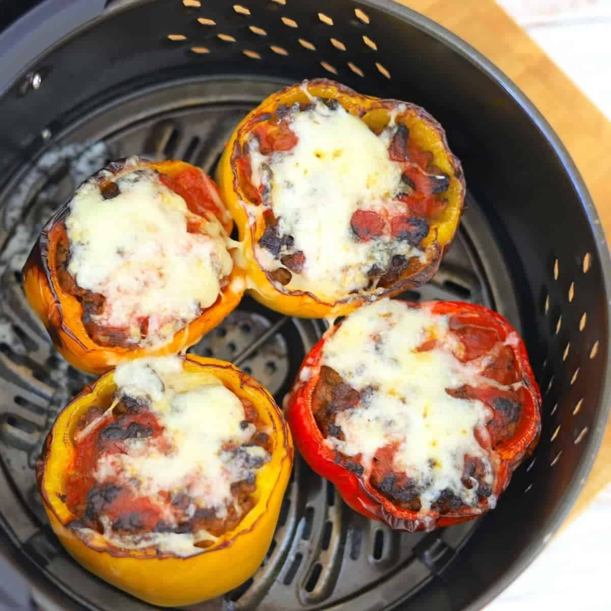 Stuffed Peppers in the air fryer