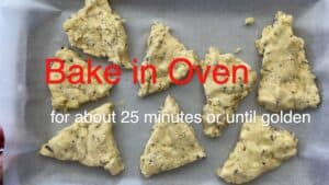 Bake scones in oven