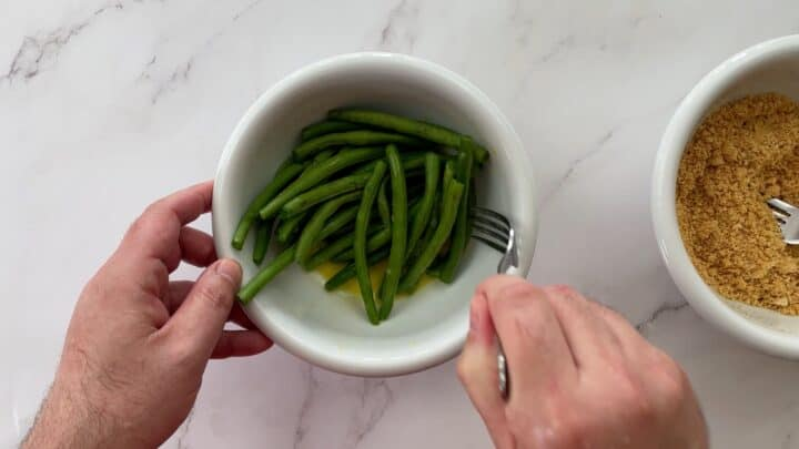green beans in egg