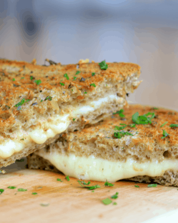 Air Fryer Low Carb Garlic Bread Grilled Cheese
