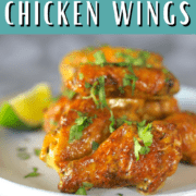 Air Fryer Cilantro Lime Chicken Wings Pin