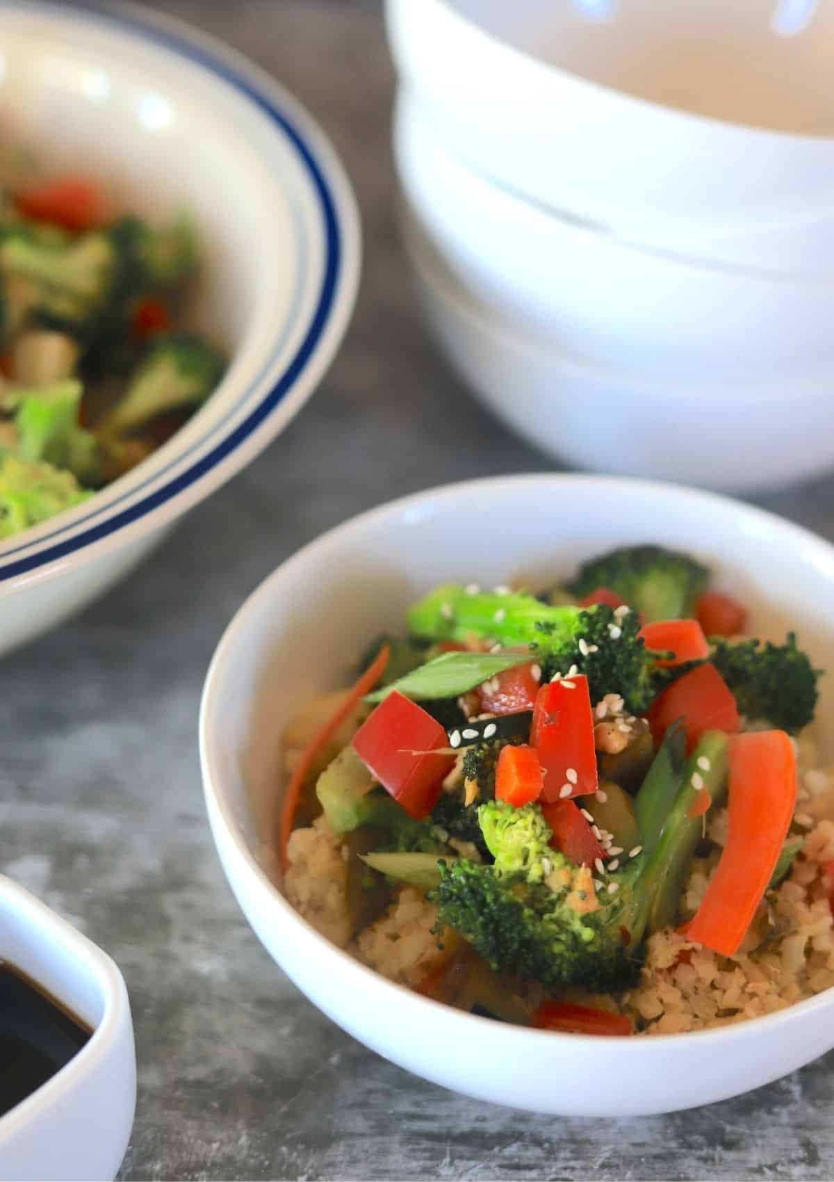 Vegetable Stir Fry with Cauliflower Rice