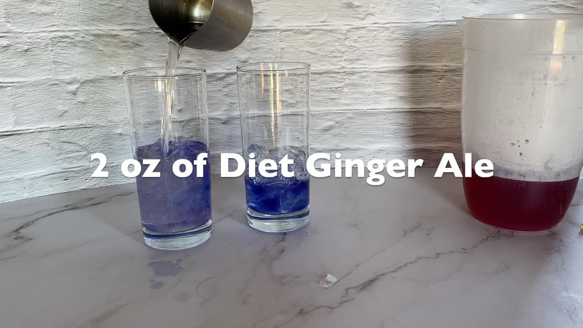adding ginger ale