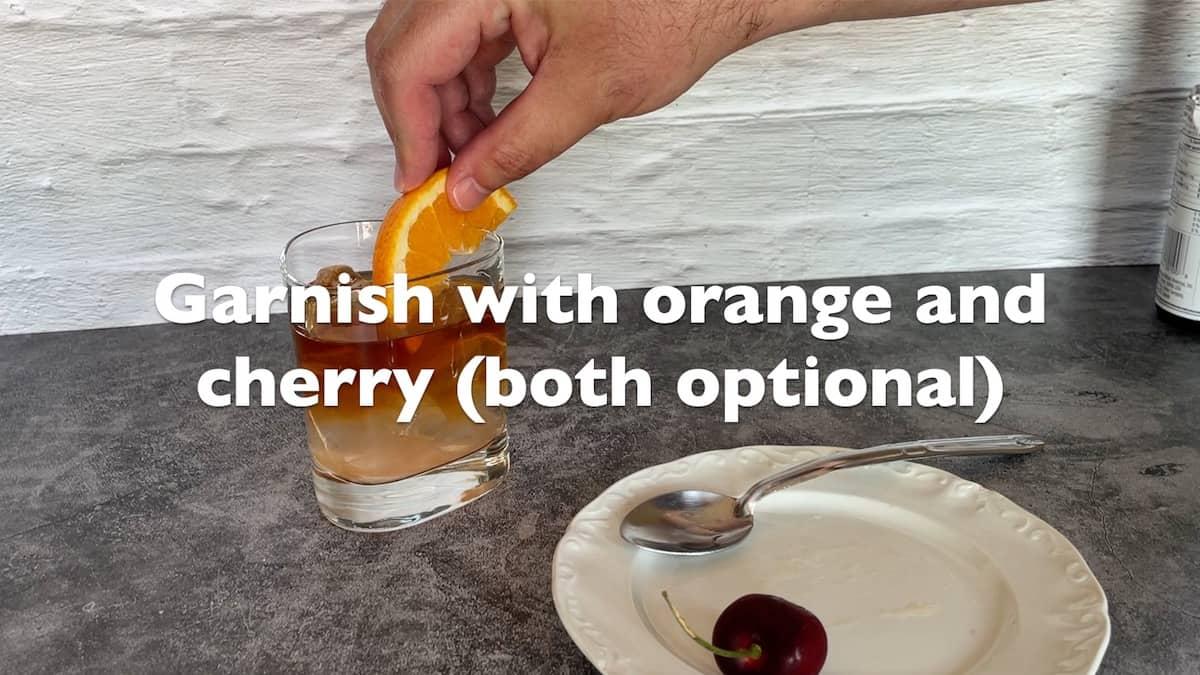 adding orange wedge