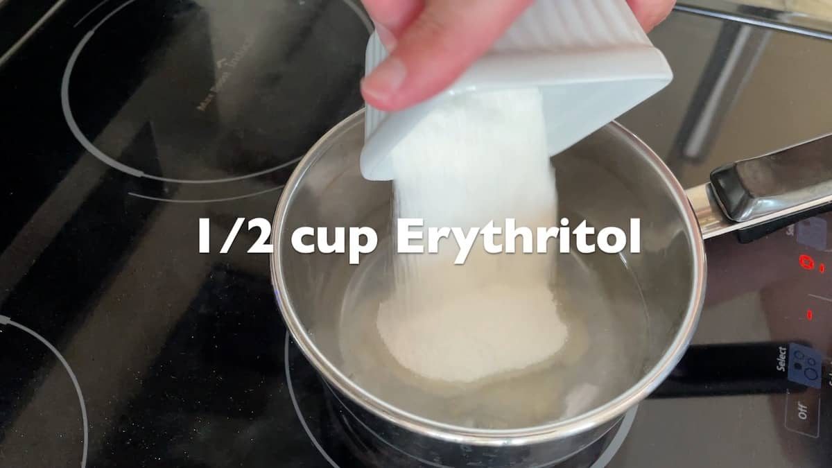 adding erythritol to the pot
