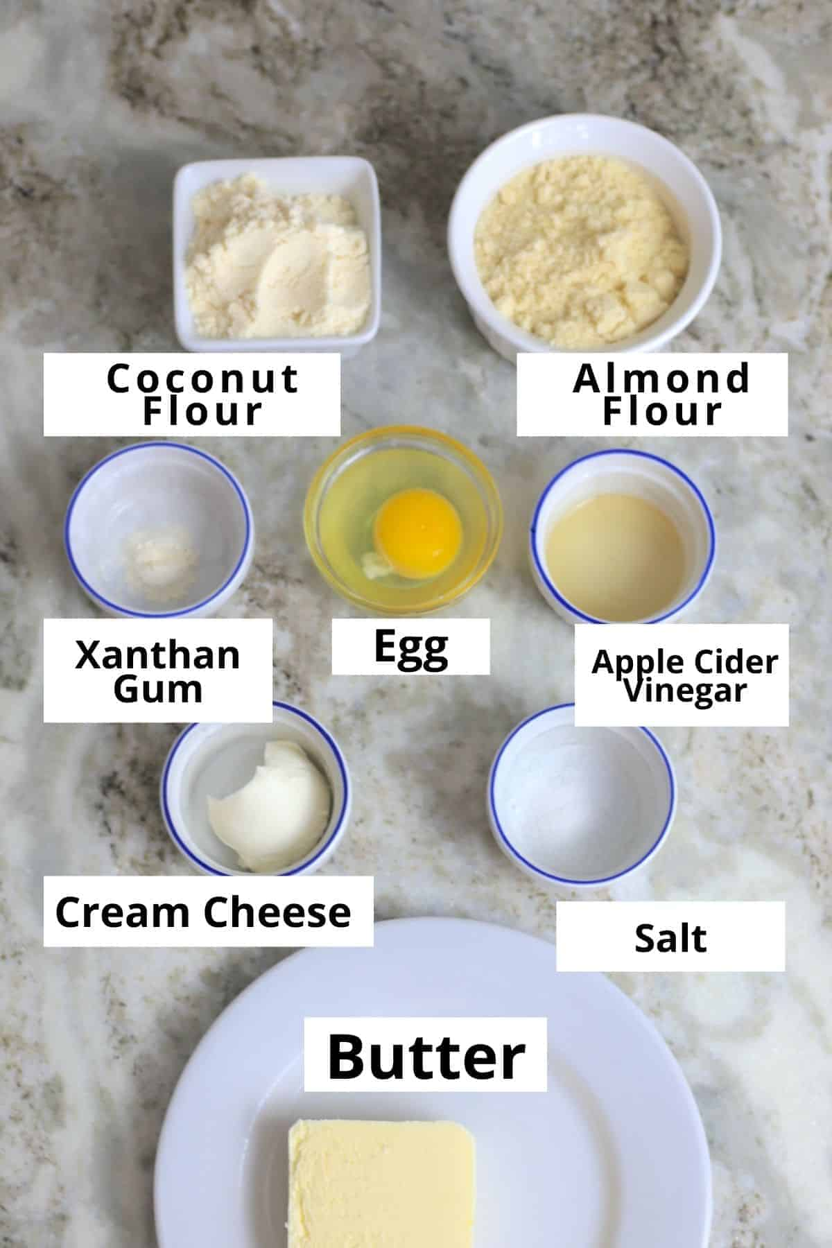 Ingredients for the pasty crust